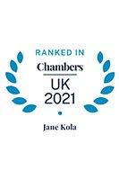 Jane Kola - Chambers UK 2021